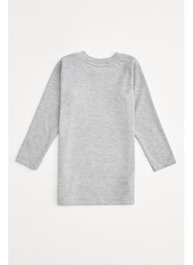 DeFacto Erkek Bebek Uzun Kol Basic Tişört Gri